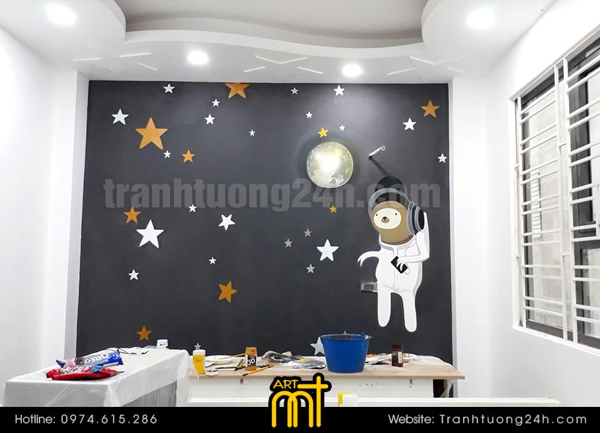 Vẽ tranh tường trang trí phòng cho phòng bé