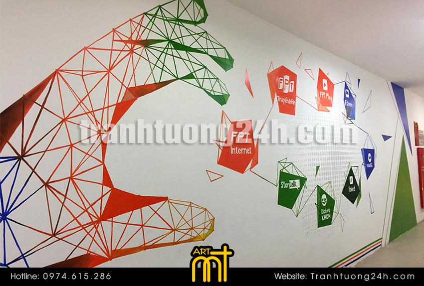 Vẽ tranh tường văn phòng FPT