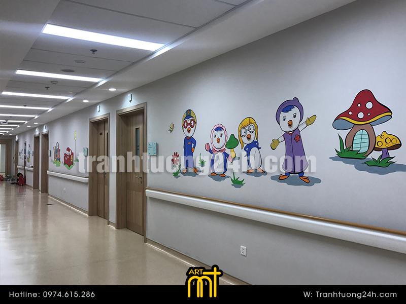 Vẽ tranh tường Bệnh viện Vinmec