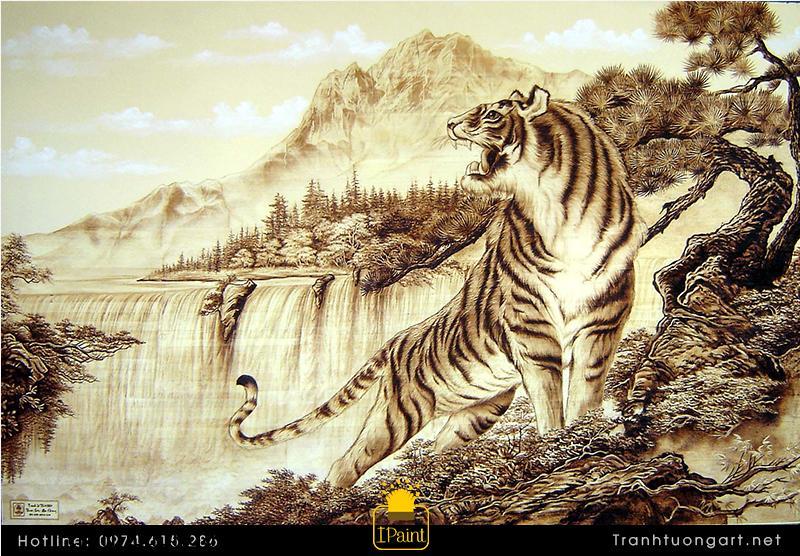 Tranh con hổ khiến âm khí tiêu tán, dương khí hưng thịnh