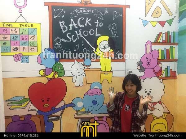 Vẽ tranh tường phòng bé trai và bé gái