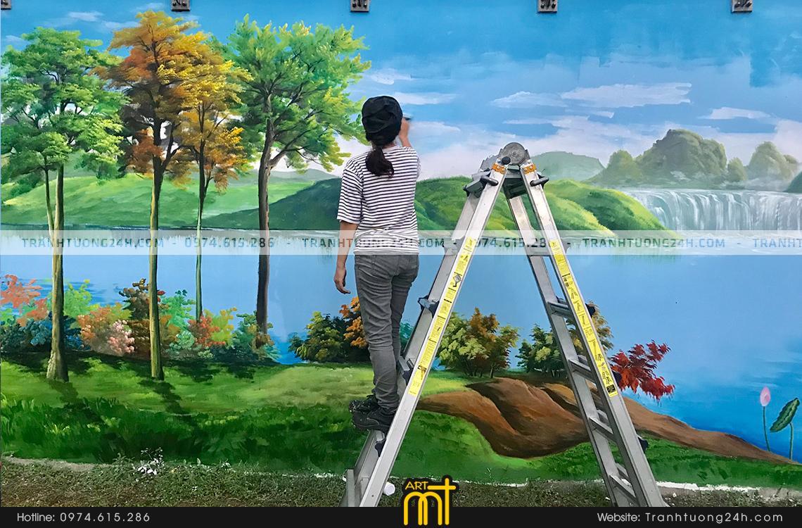 Dự án vẽ tranh tại nhà máy Bông Sen (công ty Nestle VN)