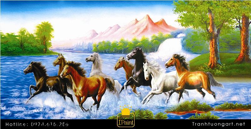 Tranh Ngựa Phi Nước Đại mang nhiều ý nghĩa về thắng lợi trong kinh doanh