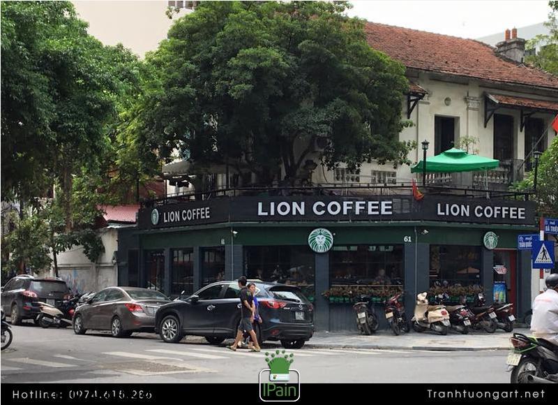 Vẽ Tranh Tường coffee Lion 61 Bà Triệu