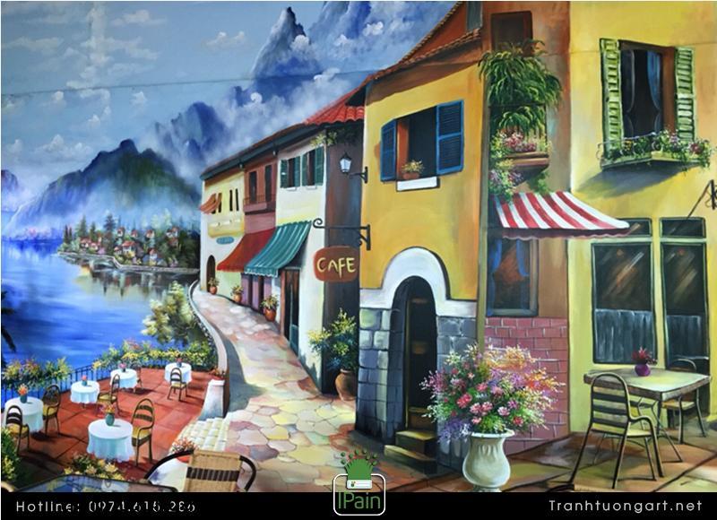 Vẽ Tranh Tường Cho Quán Cafe, quán kem