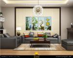 Trang trí nhà với tranh bộ: Tùng Trúc Cúc Mai