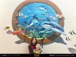 Tranh tường 3D vẽ đại dương