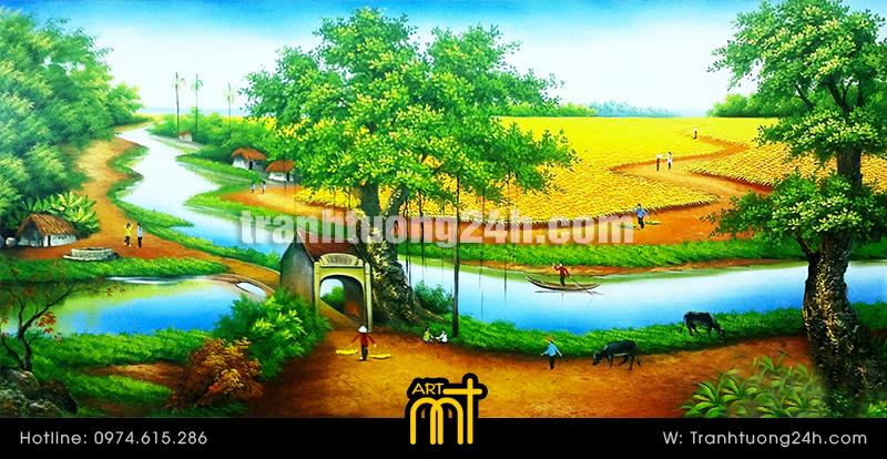Vẽ Tranh tường 3D phong cảnh, Tranh Tường 24h