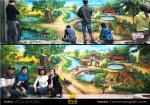 Vẽ Tranh 3D cảnh đồng quê, Tranh Tường 24h