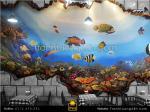 Tranh tường 3D vẽ đại dương quán cafe
