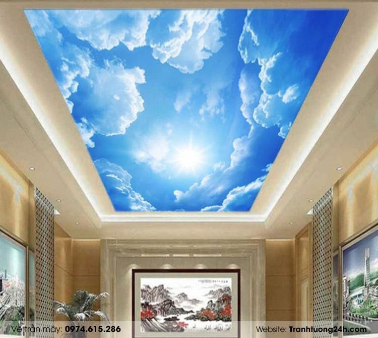 Tổng hợp các mẫu vẽ trần mây 3D đẹp