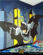 Mẫu tranh tường anh hùng batman phòng bé trai