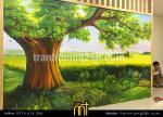 Vẽ tranh tường mầm non Montessori-in-nature