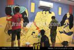 Vẽ tranh tường nhà hàng BBQ Hưng Yên